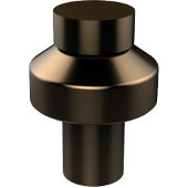 Designer 1'' Cabinet Knob, Premium Finish, Brushed Bronze