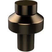 Designer 1'' Cabinet Knob, Premium Finish, Brushed Bronze