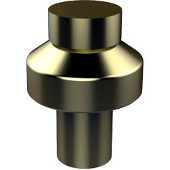 108 Series Designer Cabinet Knobs Collection 1'' Diameter Round Cabinet Knob in Satin Brass (Premium Finish), Available in Multiple Finishes