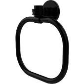 Continental Collection Towel Ring with Dotted Accents, Matte Black