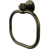 Continental Collection Towel Ring with Groovy Accents, Antique Brass