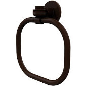 Continental Collection Towel Ring with Groovy Accents, Antique Bronze
