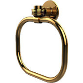 Continental Collection Towel Ring with Groovy Accents, Unlacquered Brass