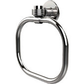 Continental Collection Towel Ring with Groovy Accents, Polished Chrome
