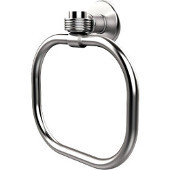 Continental Collection Towel Ring with Groovy Accents, Satin Chrome