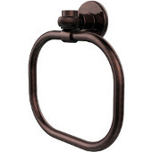 Continental Collection Towel Ring with Twist Accents, Antique Copper