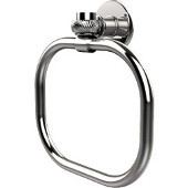 Continental Collection Towel Ring with Twist Accents, Polished Chrome