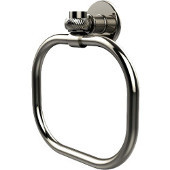 Continental Collection Towel Ring with Twist Accents, Polished Nickel