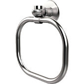 Continental Collection Towel Ring with Twist Accents, Satin Chrome