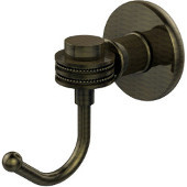 Continental Collection Robe Hook with Dotted Accents, Antique Brass
