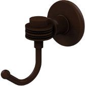 Continental Collection Robe Hook with Dotted Accents, Antique Bronze