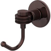 Continental Collection Robe Hook with Dotted Accents, Antique Copper