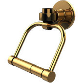 Continental Collection Double Post Tissue Holder, Standard Finish, Polished Brass
