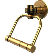 Continental Collection 2 Post Toilet Tissue Holder with Dotted Accents, Polished Brass