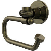 Continental Collection Euro Style Toilet Tissue Holder with Twisted Accents, Antique Brass