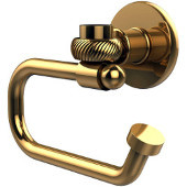 Continental Collection Euro Style Toilet Tissue Holder with Twisted Accents, Polished Brass