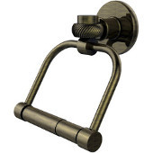 Continental Collection 2 Post Toilet Tissue Holder with Twisted Accents, Antique Brass