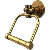 Continental Collection 2 Post Toilet Tissue Holder with Twisted Accents, Polished Brass