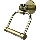 Continental Collection 2 Post Toilet Tissue Holder with Twisted Accents, Satin Brass