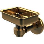 Continental Collection Wall Mounted Soap Dish Holder, Unlacquered Brass