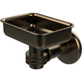 Continental Collection Wall Mounted Soap Dish Holder with Dotted Accents, Brushed Bronze