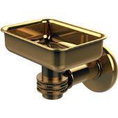 Continental Collection Wall Mounted Soap Dish Holder with Dotted Accents, Polished Brass