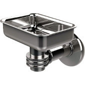 Continental Collection Wall Mounted Soap Dish Holder with Dotted Accents, Polished Chrome