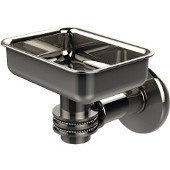 Continental Collection Wall Mounted Soap Dish Holder with Dotted Accents, Polished Nickel