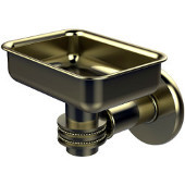 Continental Collection Wall Mounted Soap Dish Holder with Dotted Accents, Satin Brass