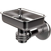 Continental Collection Wall Mounted Soap Dish Holder with Dotted Accents, Satin Chrome
