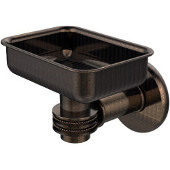 Continental Collection Wall Mounted Soap Dish Holder with Dotted Accents, Venetian Bronze