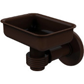 Continental Collection Wall Mounted Soap Dish Holder with Groovy Accents, Antique Bronze