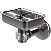Continental Collection Wall Mounted Soap Dish Holder with Groovy Accents, Polished Chrome