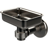 Continental Collection Wall Mounted Soap Dish Holder with Groovy Accents, Satin Nickel