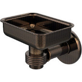 Continental Collection Wall Mounted Soap Dish Holder with Groovy Accents, Venetian Bronze