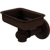 Continental Collection Wall Mounted Soap Dish Holder with Twist Accents, Antique Bronze
