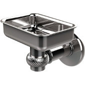 Continental Collection Wall Mounted Soap Dish Holder with Twist Accents, Polished Chrome