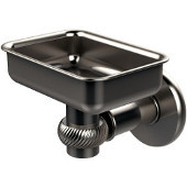 Continental Collection Wall Mounted Soap Dish Holder with Twist Accents, Satin Nickel
