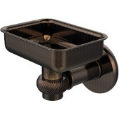 Continental Collection Wall Mounted Soap Dish Holder with Twist Accents, Venetian Bronze