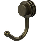 Venus Collection Robe Hook with Dotted Accents, Antique Brass