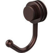 Venus Collection Robe Hook with Dotted Accents, Antique Copper
