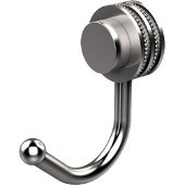 Venus Collection Robe Hook with Dotted Accents, Satin Chrome