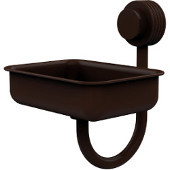 Venus Collection Wall Mounted Soap Dish with Groovy Accents, Antique Bronze
