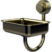 Venus Collection Wall Mounted Soap Dish with Groovy Accents, Satin Brass
