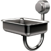 Venus Collection Wall Mounted Soap Dish with Groovy Accents, Satin Chrome