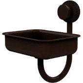Venus Collection Wall Mounted Soap Dish with Twisted Accents, Antique Bronze