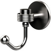 Satellite Orbit One Robe Hook with Groovy Accents, Satin Chrome