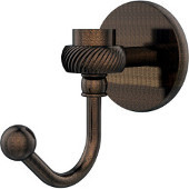 Satellite Orbit One Robe Hook with Twisted Accents, Venetian Bronze