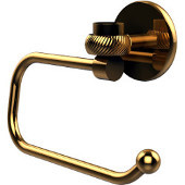 Satellite Orbit One Collection Euro Style Toilet Tissue Holder with Twisted Accents, Unlacquered Brass