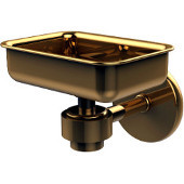 Satellite Orbit One Collection Soap Dish, Standard Finish, Polished Brass